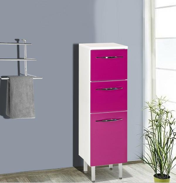 fantastischer-rosa-Hochschrank-für-Badezimmer-Design