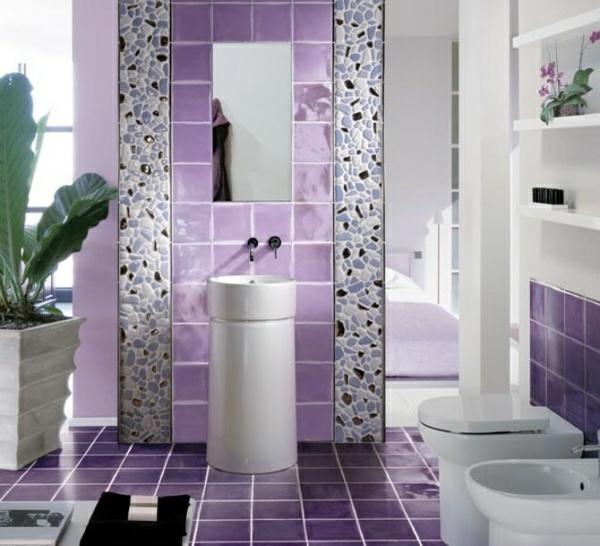 farbe-badezimmer-lila-farbtöne-freistehender-waschbecken-