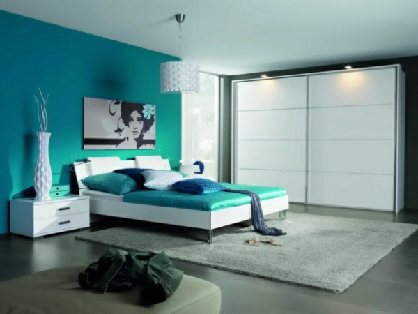 wohnideen schlafzimmer farbgestaltung blau. Black Bedroom Furniture Sets. Home Design Ideas