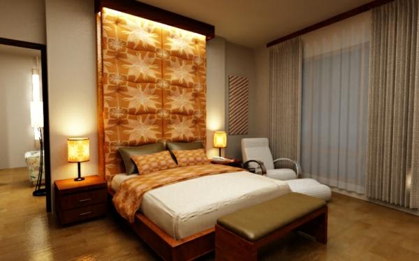 farbgestaltung-für-schlafzimmer-coole-orange-gestaltung