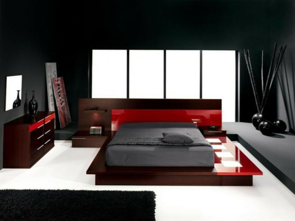 farbgestaltung-für-schlafzimmer-dunkle-farbschemen