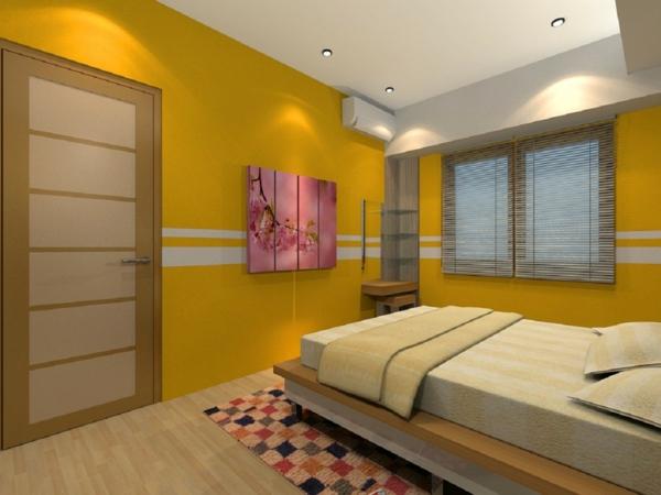 farbgestaltung-für-schlafzimmer-gelbe-nuancen