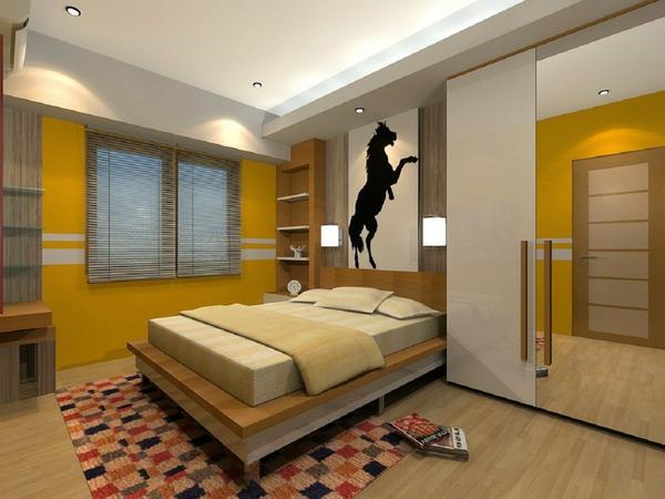 farbgestaltung-für-schlafzimmer-kleiner-raum