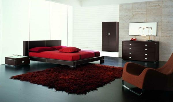 farbgestaltung-für-schlafzimmer-rote.akzente