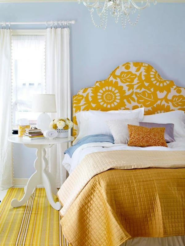 gelbe-farbgestaltung-im-schlafzimmer-wunderschöner-look