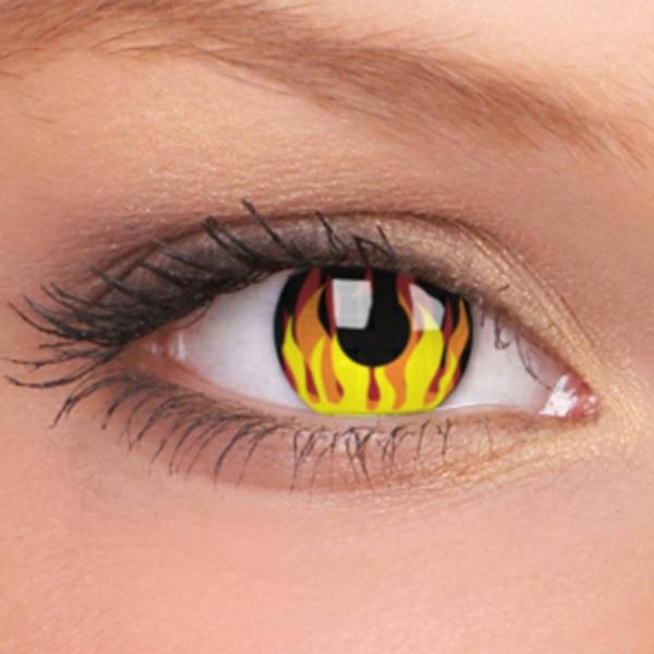 gelbe-sehr-interessante-kontaktlinsen-für-halloween
