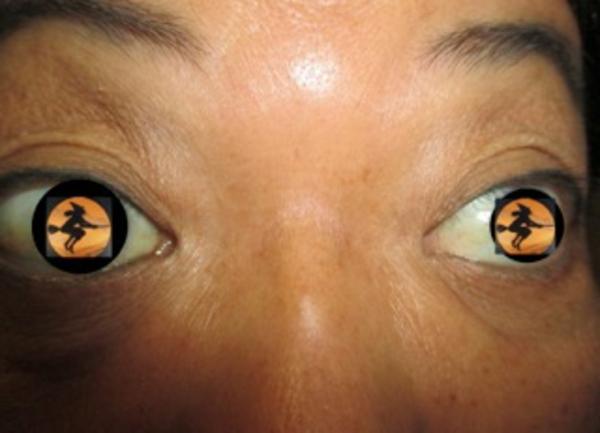 gelbe-super-originelle-kontaktlinsen-für-halloween