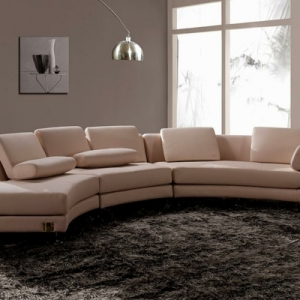 Wunderschöne Vorschläge für ein halbrundes Sofa!