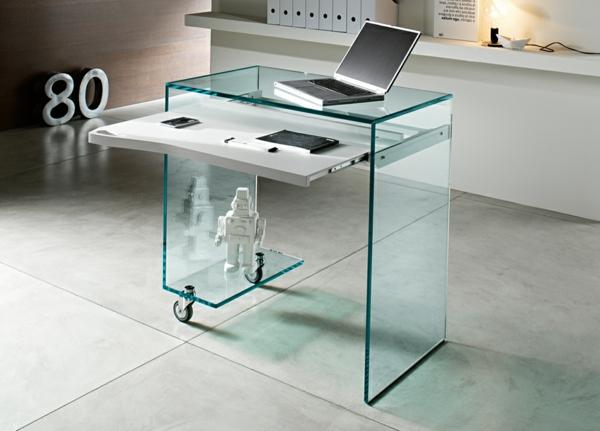 gläserner-Schreibtisch-Heimbüro