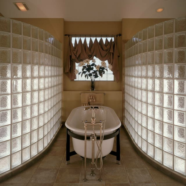 Glasbausteine badgestaltung  Glasbausteine Modern | badezimmer & Wohnzimmer
