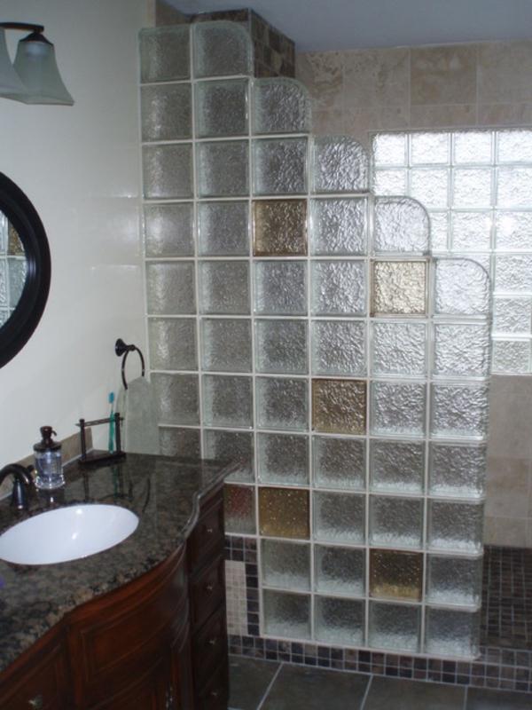 Glasbausteine dusche bilder ihr ideales zuhause stil for Dusche glasbausteine