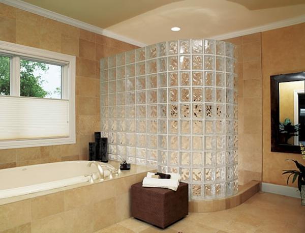 duschabtrennung glasbausteine. Black Bedroom Furniture Sets. Home Design Ideas