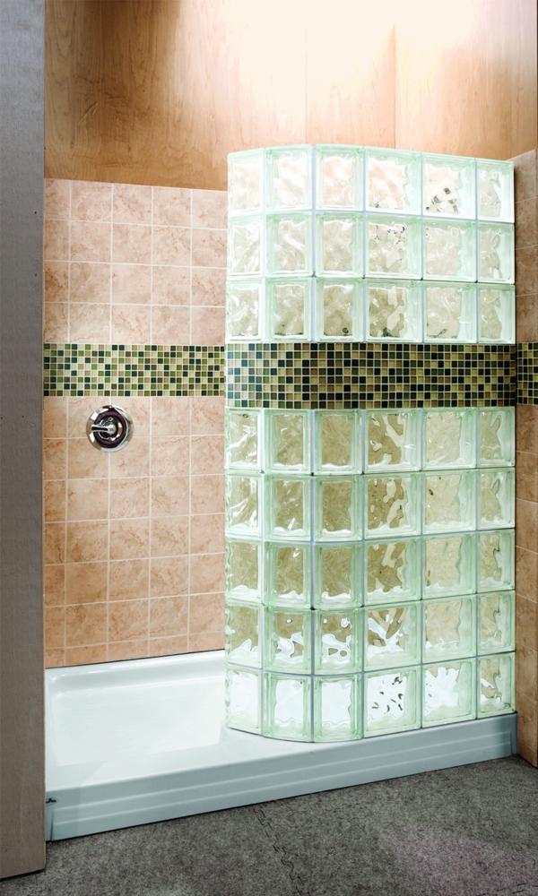 Glasbausteine dusche led  Glasbausteine für Dusche - 44 prima Bilder! - Archzine.net