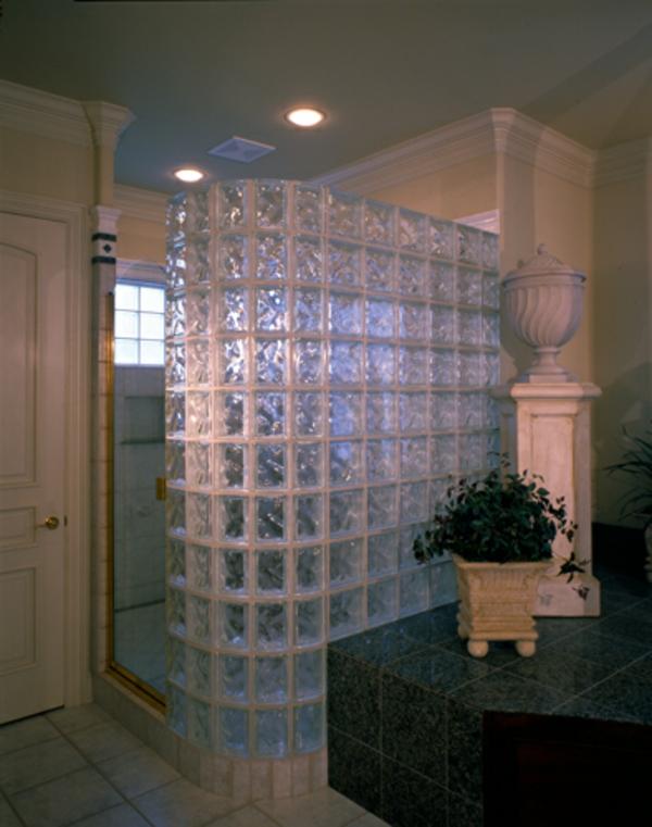glasbausteine im badezimmer. Black Bedroom Furniture Sets. Home Design Ideas