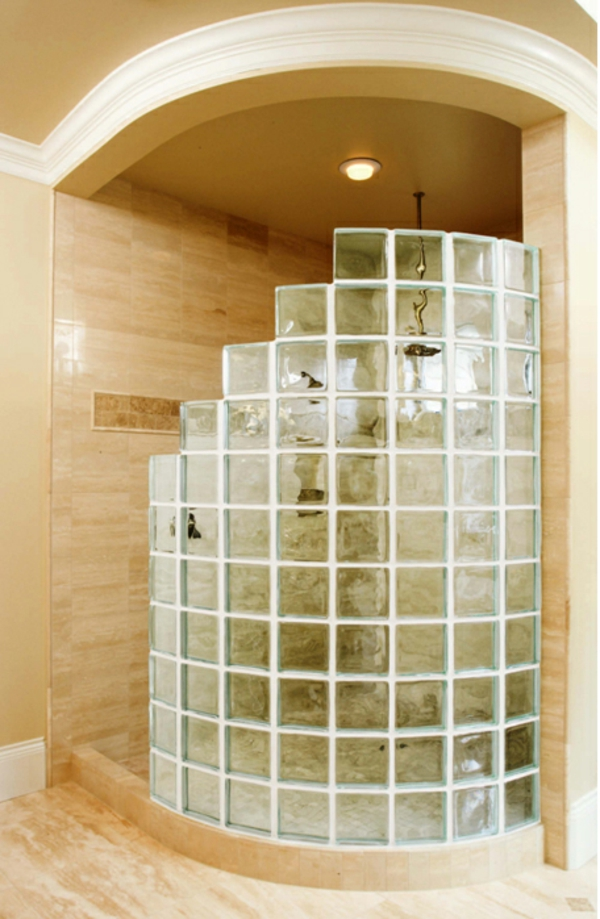 Diy Glass Block Shower