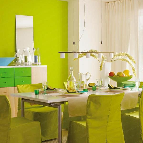 grüntöne-wandfarbe-esszimmer-küche