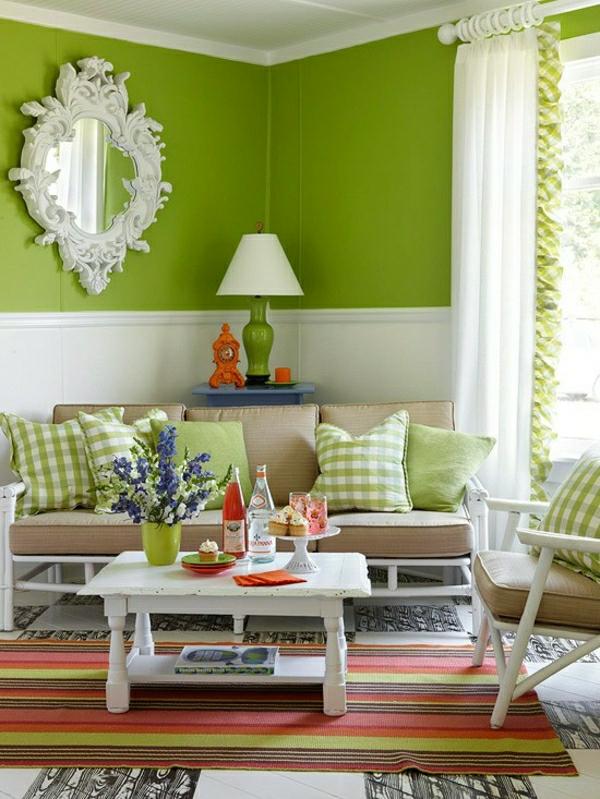 grüntöne-wandfarbe-moderne-gestaltung-spiegel