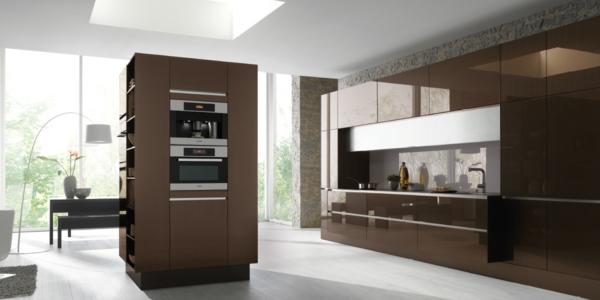 häcker küchen teil 1: 38 auffällige designs! - archzine.net - Küche Weiß Braun