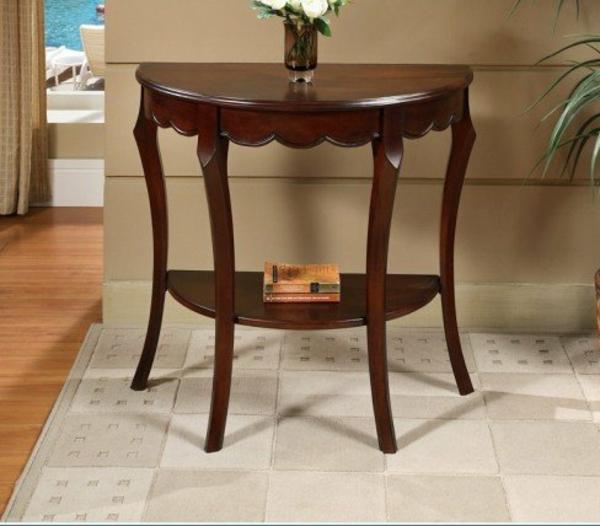 Beistelltisch Halbrund Holz ~ Halbrunder Tisch – schöne Vorschläge für Ihre Wohnung!