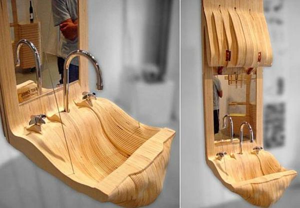 hölzernes-designer-waschbecken- zwei bilder
