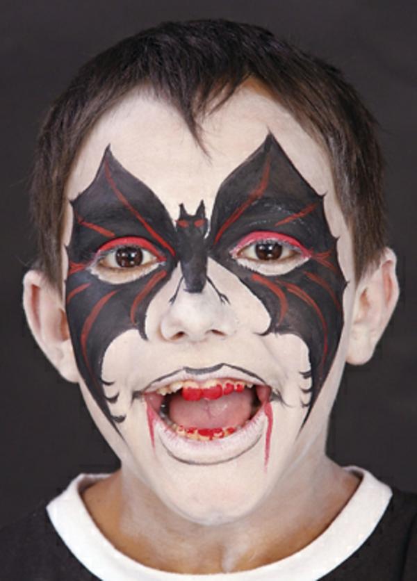 Halloween gesichter 32 neue vorschl ge - Fledermaus schminken ...