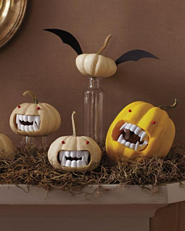halloween-kinderparty-dekoration-mit-kürbissen