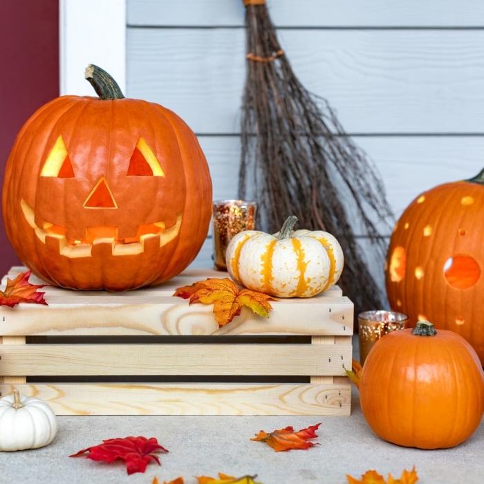 halloween kürbis gesichter schnitzen, jack face, gruselige kürbisse, halloweendeko