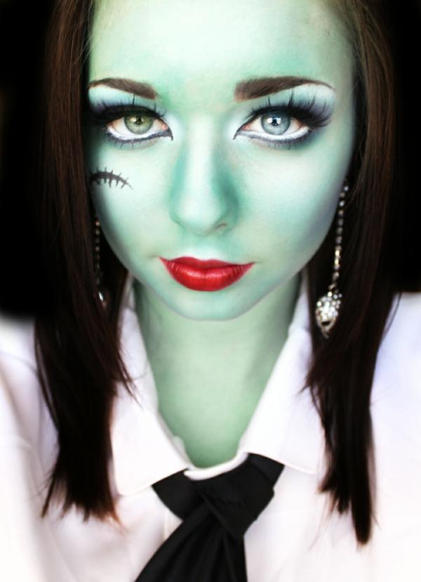 halloween-make-up-ideen-hexe-grüne-farbe