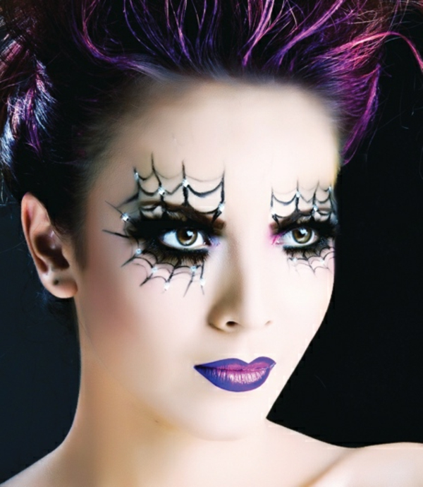 Halloween make up ideen bilder von hexen - Maquillage sorciere femme ...