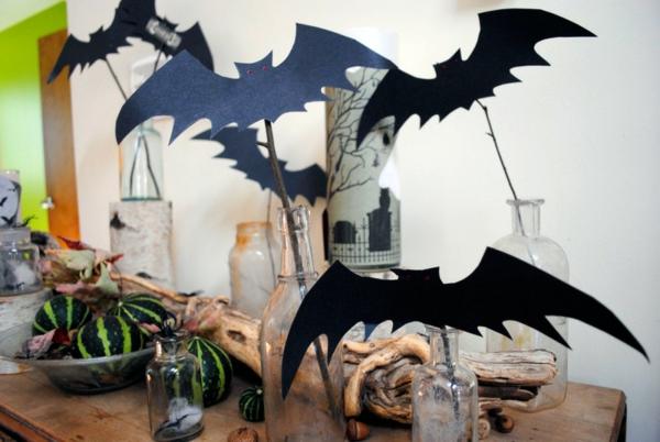 tischdeko halloween party kunststoff spinnen weinglas fuß