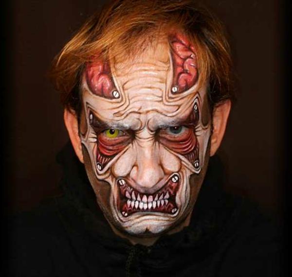 halloween zombie schminken 28 coole ideen. Black Bedroom Furniture Sets. Home Design Ideas