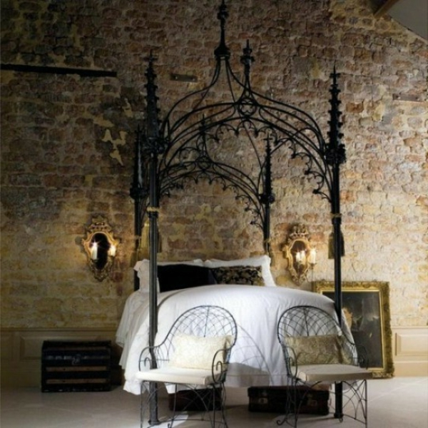 interessantes-gothic-schlafzimmer
