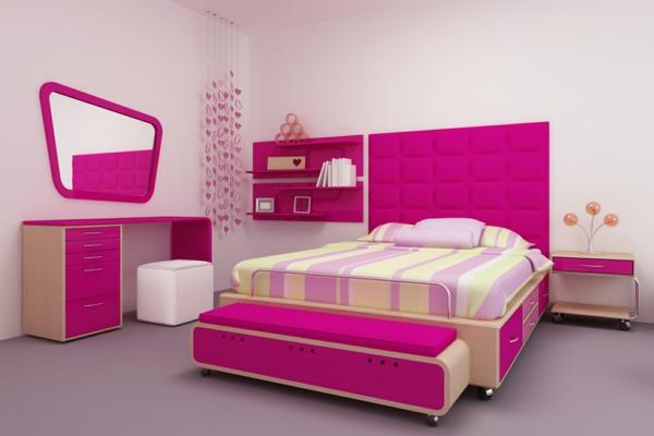 Interior Design Ideen Rosa Schlafzimmer Idee