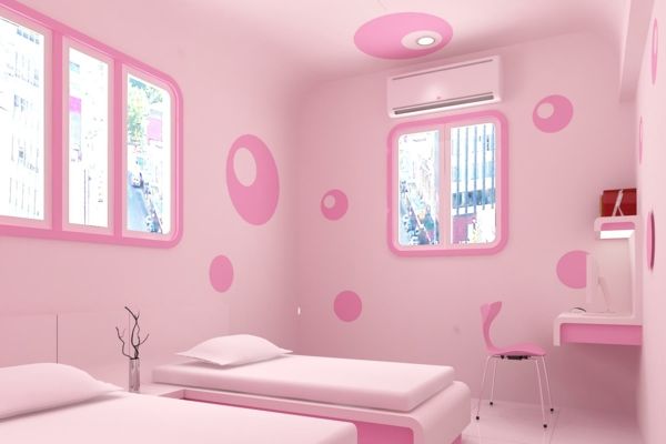 interior-design--rosa-Schlafzimmer-coole-Wände