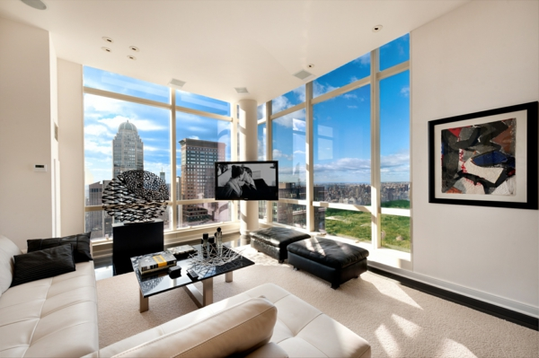 penthouse in new york erstaunliche fotos. Black Bedroom Furniture Sets. Home Design Ideas