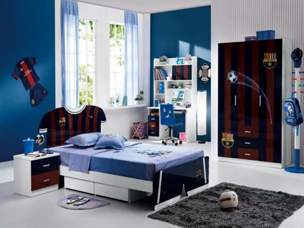 Einrichtungsideen jugendzimmer blau  Jugendzimmer Fur Zwei Einrichten ~ speyeder.net = Verschiedene ...