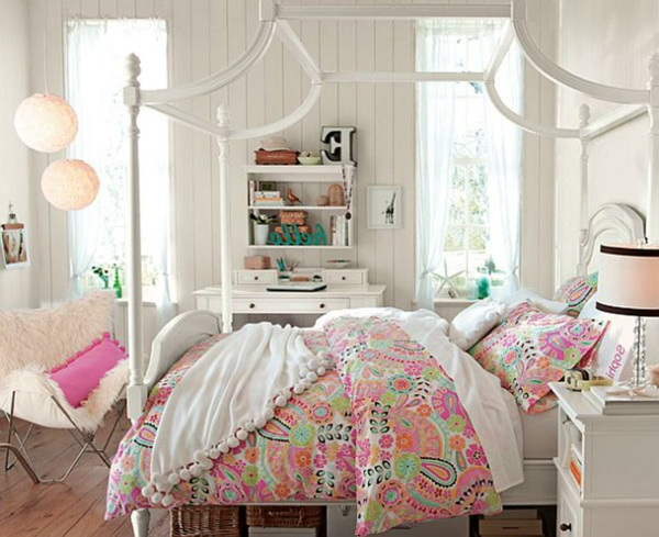 Jugendzimmer Design Mädchen Weiß ~ Jugendzimmer einrichten – speziell für kleine Damen!