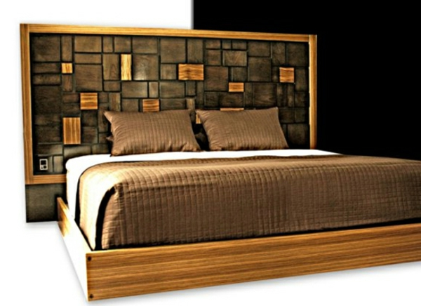 modernes designer doppelbett holz. Black Bedroom Furniture Sets. Home Design Ideas
