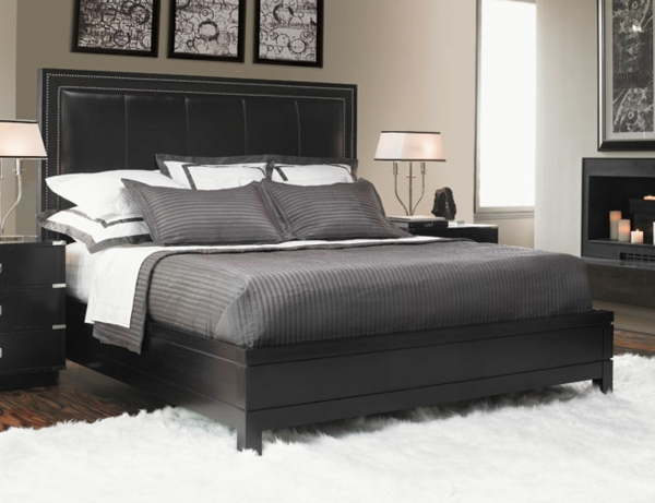 kopfteil-für-bett-dunkel-graue-farbe