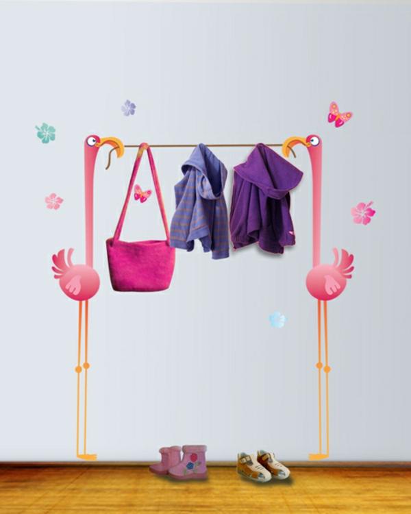 Wandtattoo garderobe eine originelle idee - Garderobe idee ...