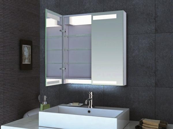 Badezimmer spiegelschrank mit beleuchtung sch ne ideen for Schone badezimmer ideen