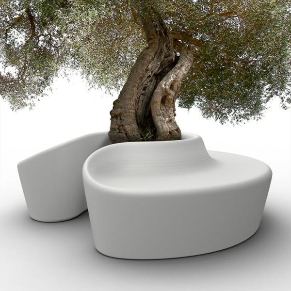 lounge-möbel-outdoor-weiße-moderne-bank