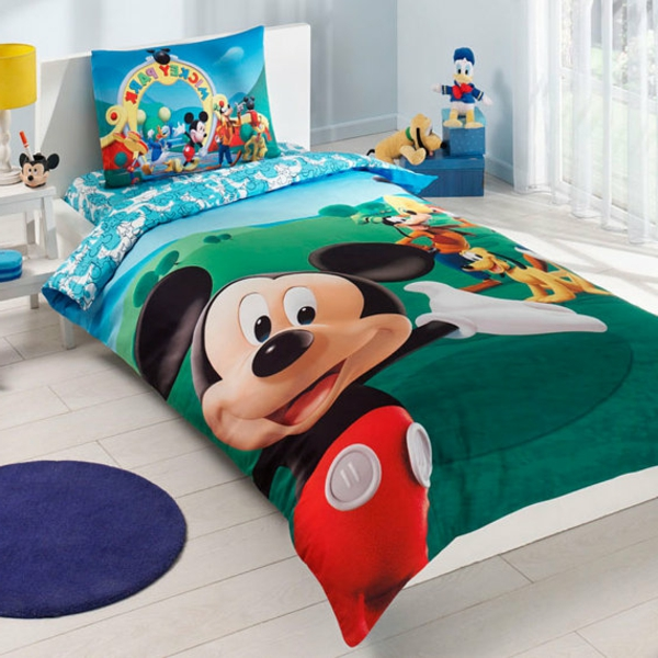 Mickey mouse bettwaesche micky maus kinder wende bettw for Bettw sche sprüche