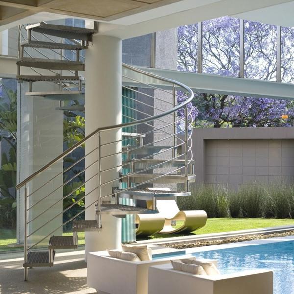 Treppengeländer für außen   32 originelle designs!   archzine.net