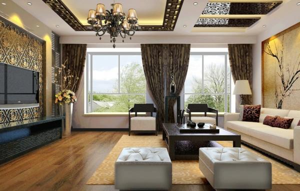 luxuriöse-wohnzimmer-wandgestaltung-schön-aussehen