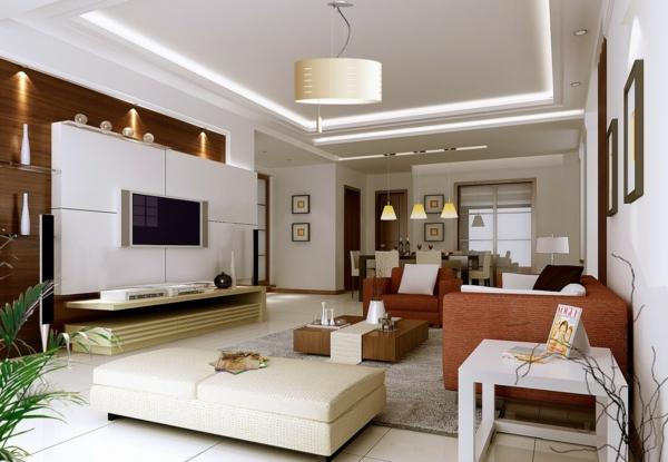 7 Beleuchtung Wohnzimmer LuxLuxurise Wandgestaltung
