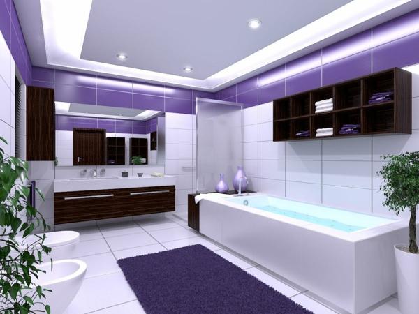 luxus-badezimmer-fliesen-weiß-lila-beleuchtung