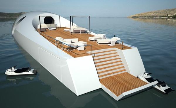 luxus yachten-unglaubliches-weißes-design