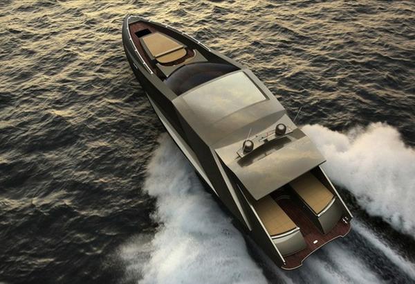 luxus yachten-zeitgenössisches-modell