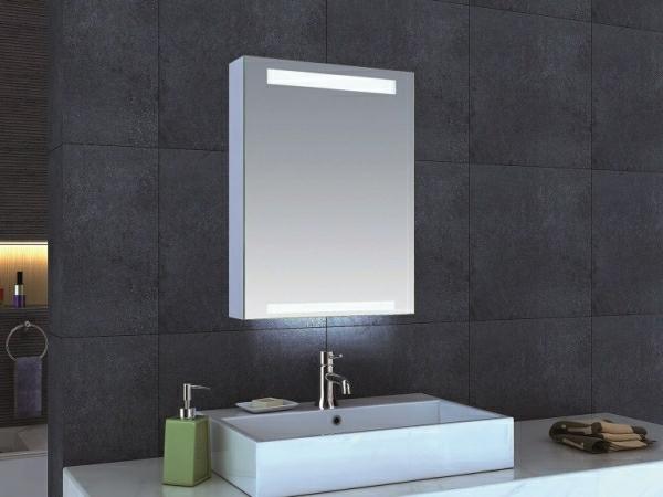 minimalistischen-stil-ideen-für-spiegelschrank-im-badezimmer-graue-fliesen